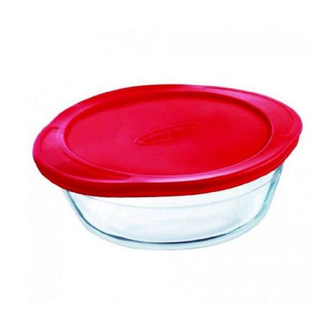 Pyrex OCuisine Round 1L 20cm Glass Fridge Freezer Food Box Container Oven Dish with Lid